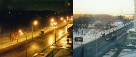 Day/Night Street Scene
